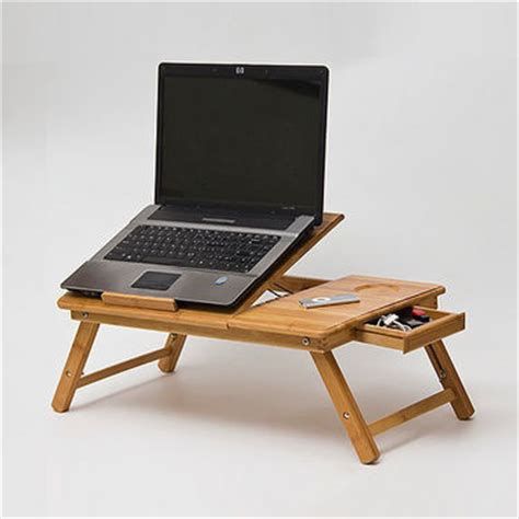 laptop study table bamboo wooden foldable adjustable laptop study table