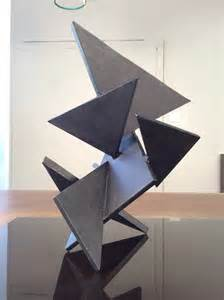 Modern Table Centerpiece by Geometric Constructivist Table Sculpture Composed Of Thick