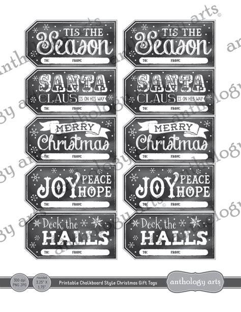 printable chalkboard name tags printable christmas gift tags chalkboard style by rsvplove