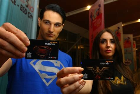 Kartu E Money Justice League Limited Edition mandiri jalin kesepakatan uang elektronik dengan 12 bank republika