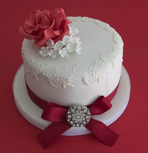 Ruby Wedding   Ruby Wedding Anniversary Cake #1987665