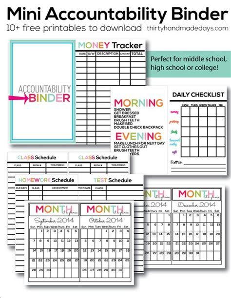 printable organization binder mini accountability binder budget binder for kids and