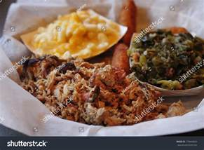 serving pulled pork side dishes macaroni stock photo 179694659 shutterstock