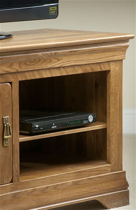 farmhouse rustic solid oak small tv cabinet