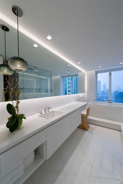 led strip lights for bathroom mirrors place soft strip along bathroom mirrors to illuminate the