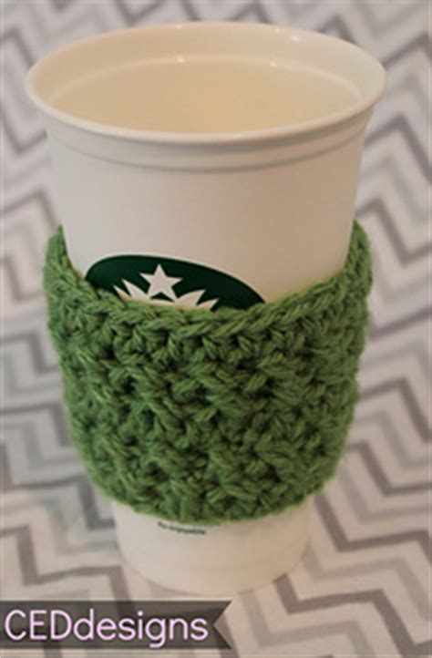 starbucks pattern library ravelry crochet textured coffee sleeve pattern by