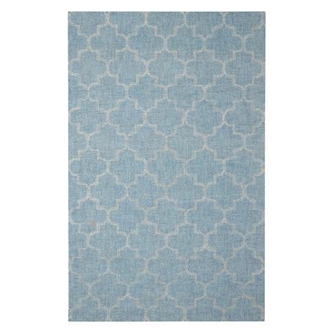 moroccan trellis rug blue moroccan trellis lt blue rug 5 x 8