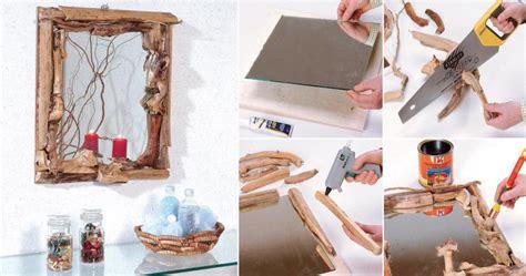 decorare cornici fai da te cornice di legno fai da te con rami bricoportale fai da