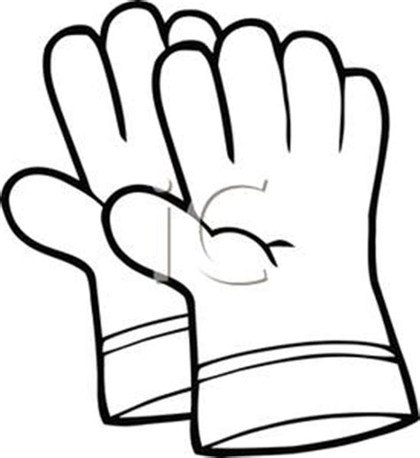 Black And White Gloves baseball glove clipart black and white clipart panda