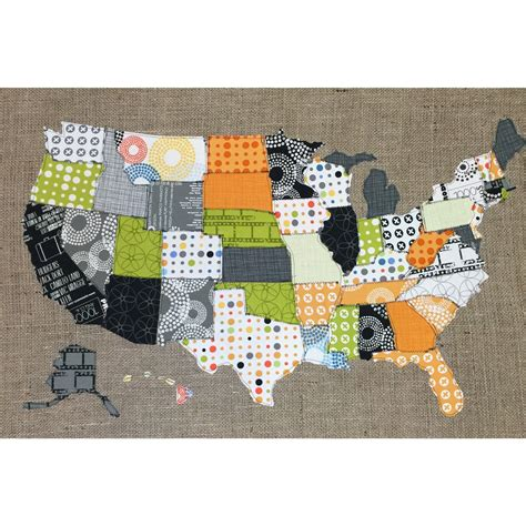 us map fabric map of the united states fabric scrap map scrap map moda