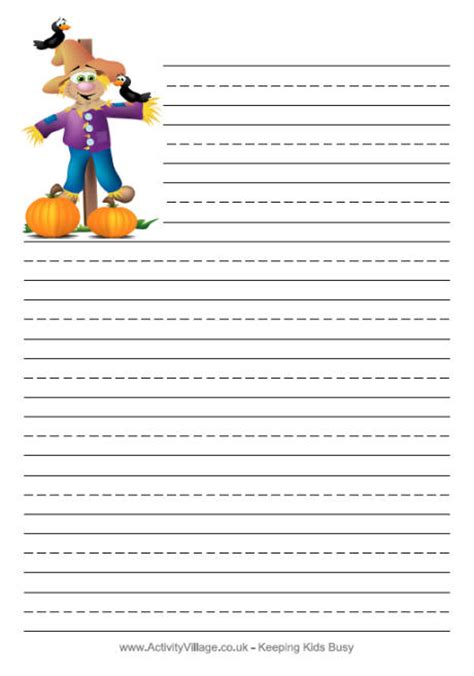 scarecrow writing paper writing in and printables calendar calendar template 2016