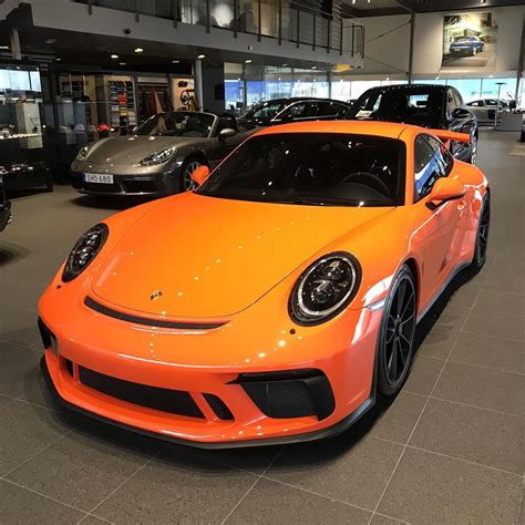 orange porsche gulf orange 2018 porsche 911 gt3 shines in sweden