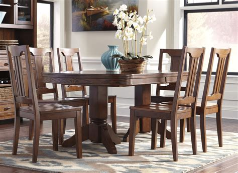 ashley dining room furniture set buy ashley furniture chimerin oval dining room extension