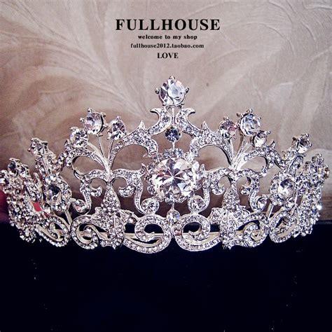 wedding tiaras and crowns 18k white gold plated vintage rhinestone bridal tiara