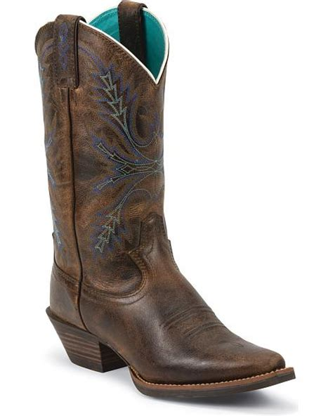justin silver boots justin silver turquoise stitched boots snip toe