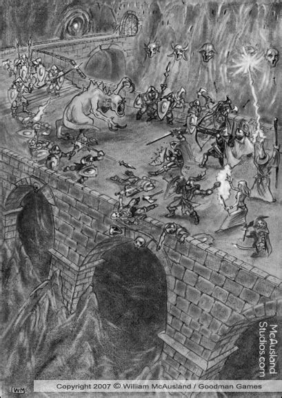 Castle White rock Bridge Battle Sketchby William McAusland