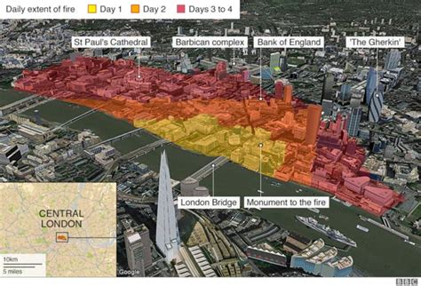 thames river before and after five ways the great fire changed london