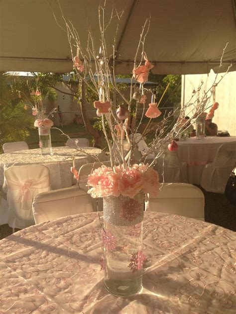 Winter Baby Shower Centerpieces by Pink Centerpieces For Winter Baby Shower