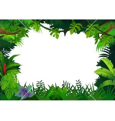 free printable clip art borders   jungle frame vector