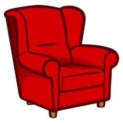 clipart armchair coloured