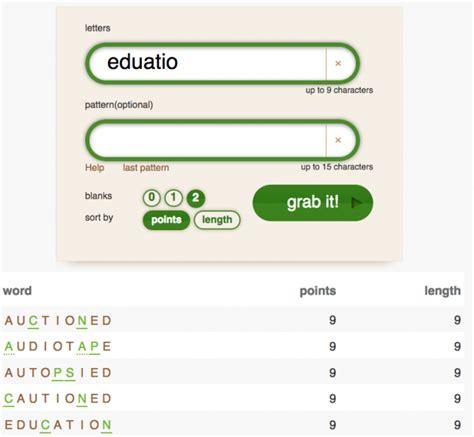 word grabber scrabble helper words with friends the best word generator to help