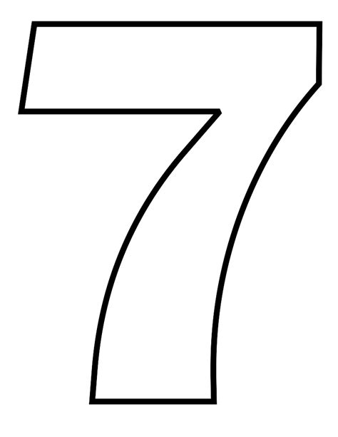 coloring pages of number 7 number 7 coloring page getcoloringpages com