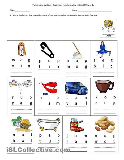 5 Letter Words Made From Prefer cvc words beginning middle ending letters worksheet