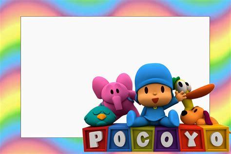 marcos de pocoy marcos infantiles para fotos pocoyo with rainbow background free printable invitations