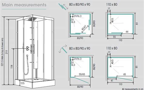 bathroom cubicle dimensions kinedo horizon shower cubicle uk bathrooms