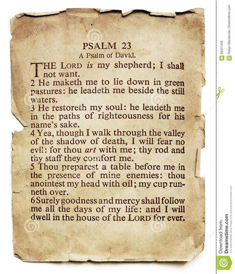 salmo 91 testo psalm 23 on paper isolated stock photo image of