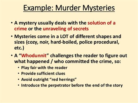 murder in the a gripping crime mystery of twists books writing in different genres why why not and how to