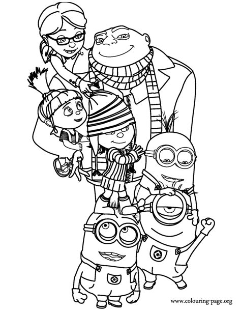 Minions Despicable Me 2 Coloring Pages Despicable Me Minions Coloring Pages