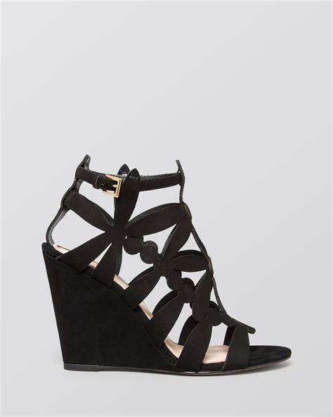 black burch sandals burch wedge sandals emerson in black lyst