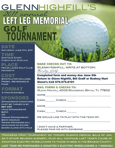 golf outing registration form template 8 best golf images on registration form flyer