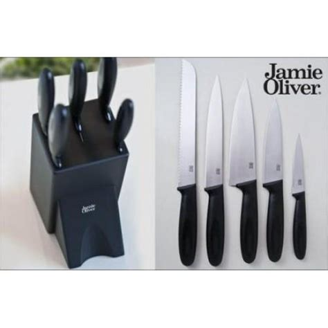 must have kitchen knives dynergy jamie oliver must have six piece knife block set