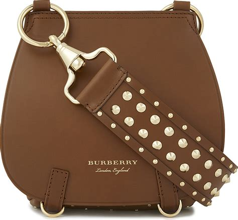 Brown Leather Studded by Burberry Studded Leather Shoulder Bag In Brown Lyst