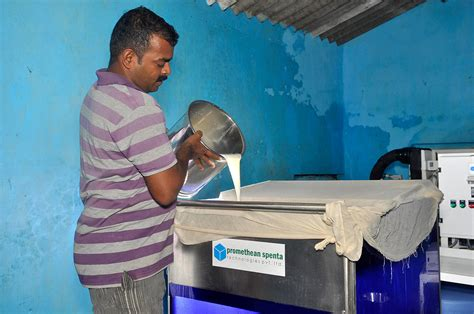 Country Farm House chilling milk directly from the cow for india s dairy