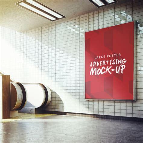 mock up your design here underground poster mock up design psd file free download