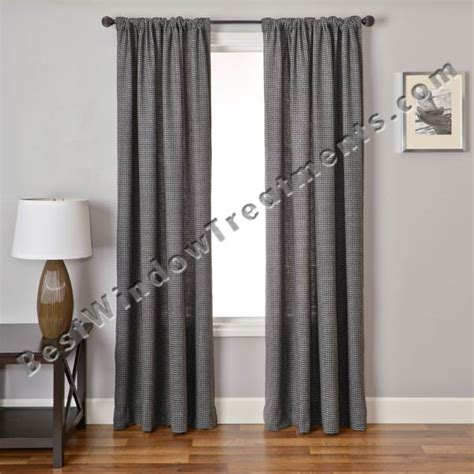 houndstooth drapes gentlemen houndstooth check curtain drapery panels