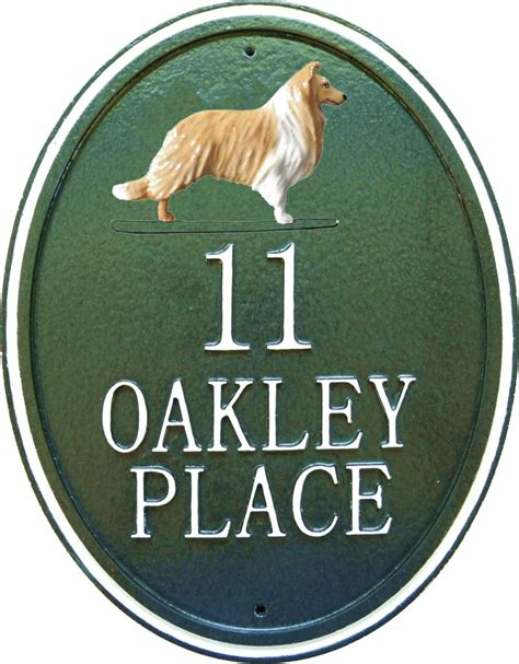 dog house signs 15 inch dog breed house sign vertical