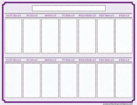 blank week calendar template blank two week calendar printable free calendar template