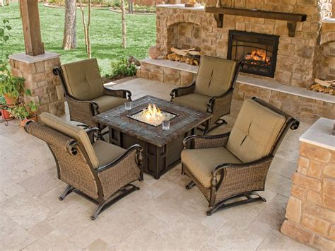 outdoor furniture with pit table pit design ideas