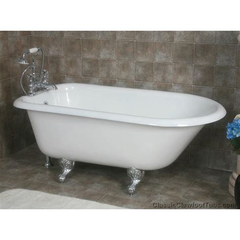 used cast iron bathtub 55 quot rolled rim cast iron clawfoot tub classic clawfoot tub