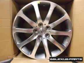 lexus oem genuine 18 quot machined tourmaline alloy wheels set