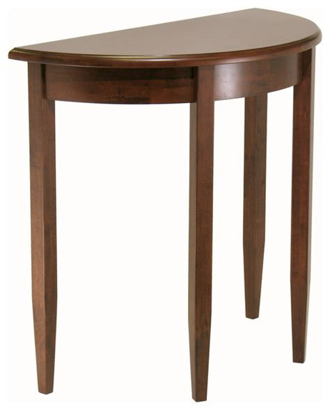 transitional console table concord half moon accent table transitional console