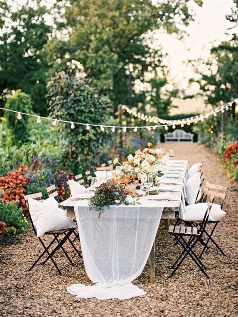 decorate  intimate garden wedding  wed