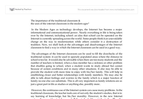 Or Traditional Classroom Essay by Classrooms Vs Traditional Classrooms The Advantages Of The Classroom Can