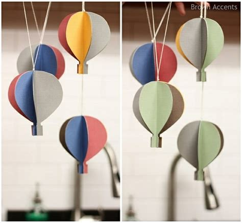 How To Make A Paper Air Balloon - how to make paper air balloon garland step by step