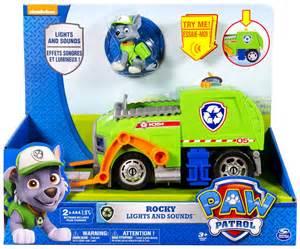 paw patrol rocky lights amp sounds recycling truck