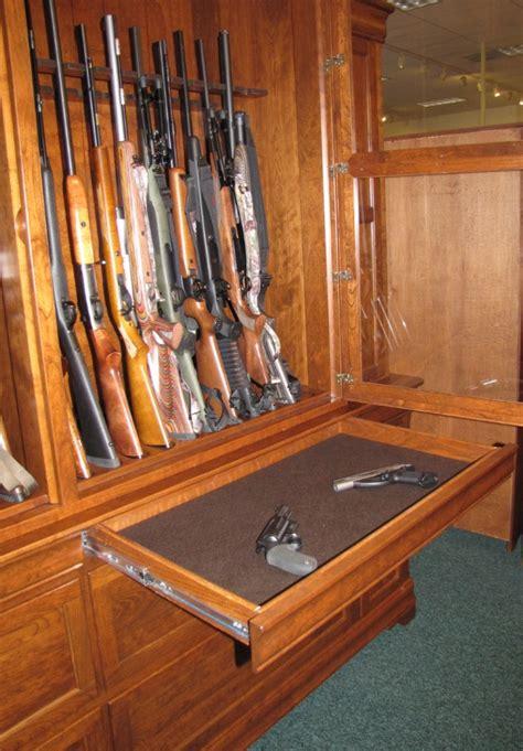 Handmade Gun Cabinets - custom cherry gun cabinet 46 gun cabinet gun